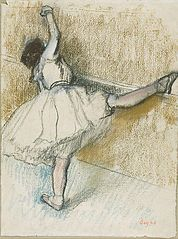 Edgar Degas - Dancer Stretching at the Barre
