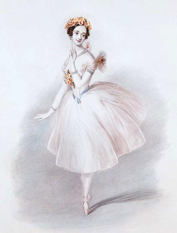 """Marie Taglioni in """"La Sylphide"""""""