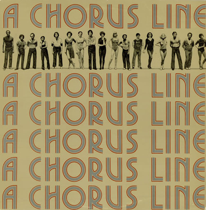 """A Chorus Line"" Original Broadway Windowcard"