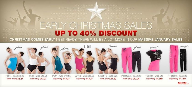 Dance Direct Pre-Christmas Sale 2012