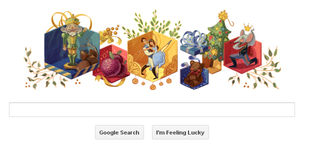 Nutcracker Google Doodle December 2012