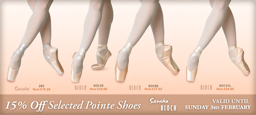 15% Off Pointe Shoes