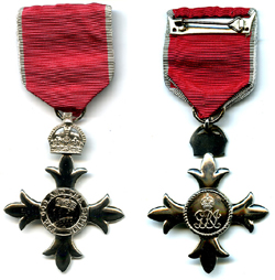 Member of the Order of the British Empire (MBE) Medal